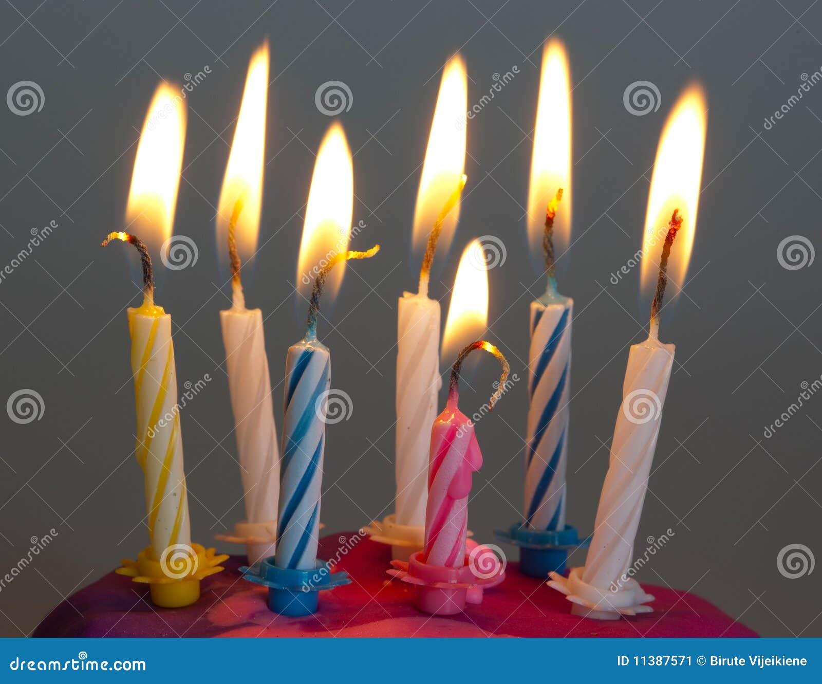 Birthday Candles Burning Stock Image Image Of Natal