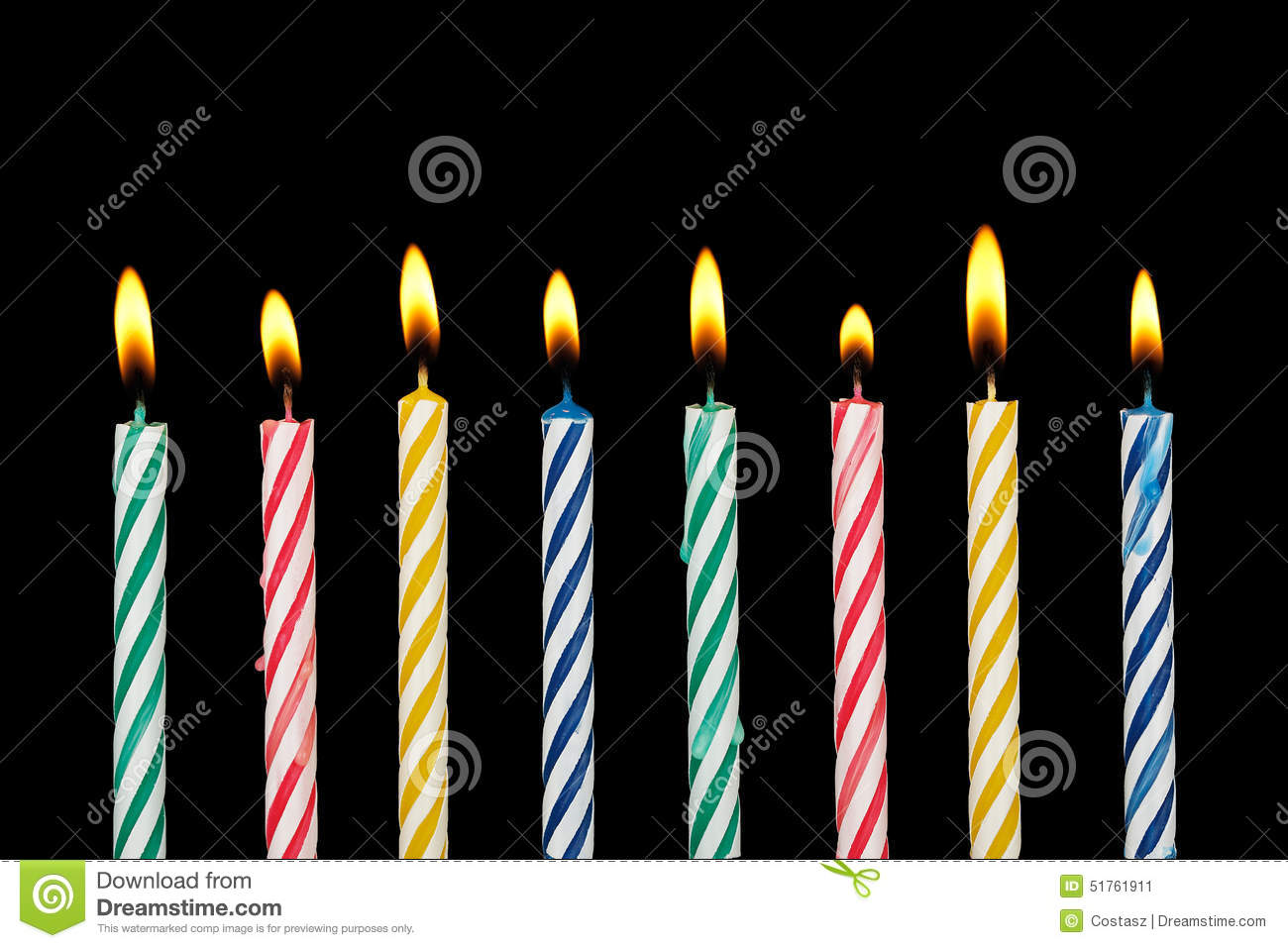 Birthday Candles Stock Photo Image 51761911