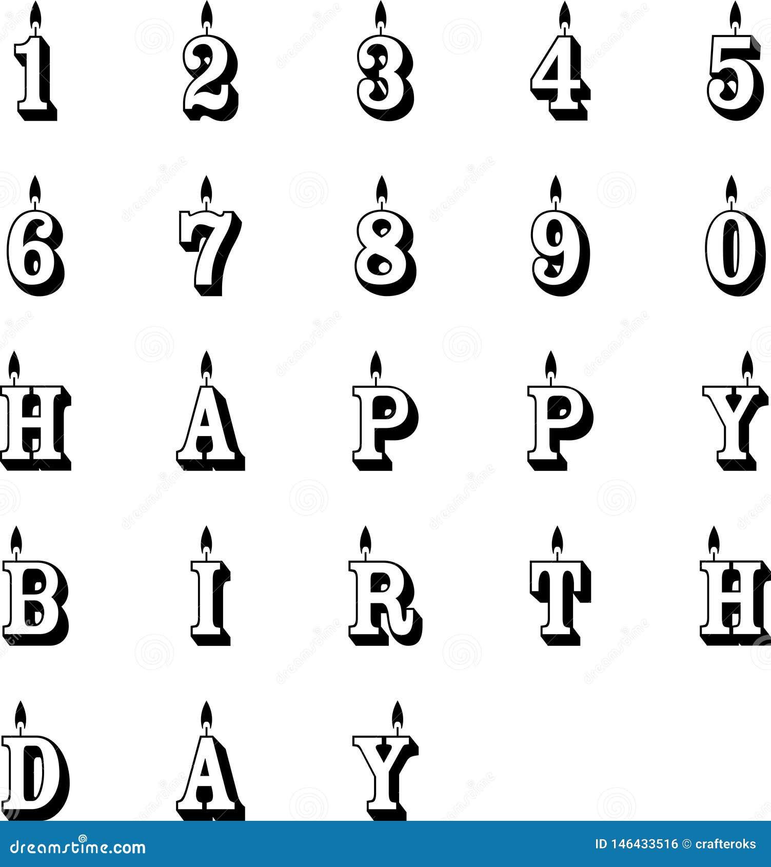 Birthday Candles Vector Eps Vector, Eps, Logo, Icon