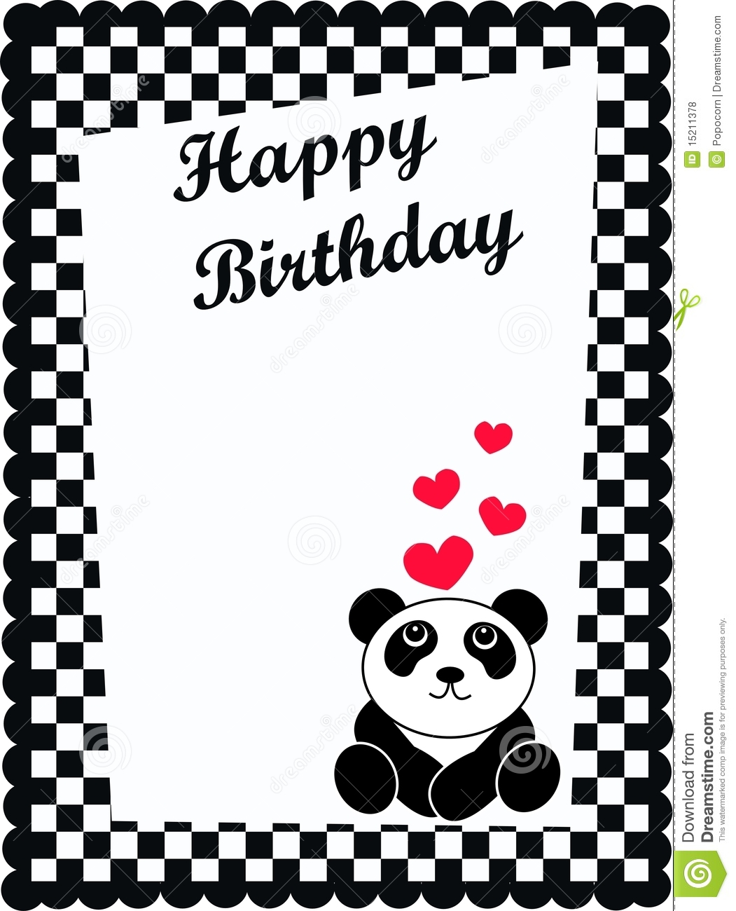 Birthday Card Royalty Free Photos Image 15211378 – Birthday Cards Black and White