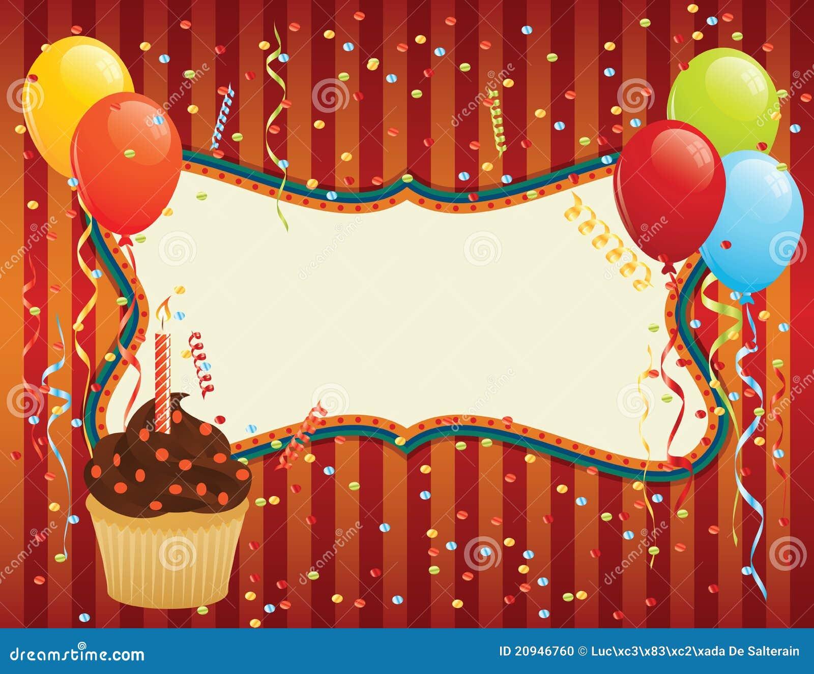 Birthday card stock vector image of festive bunch happy - Vasos para cumpleanos infantiles ...