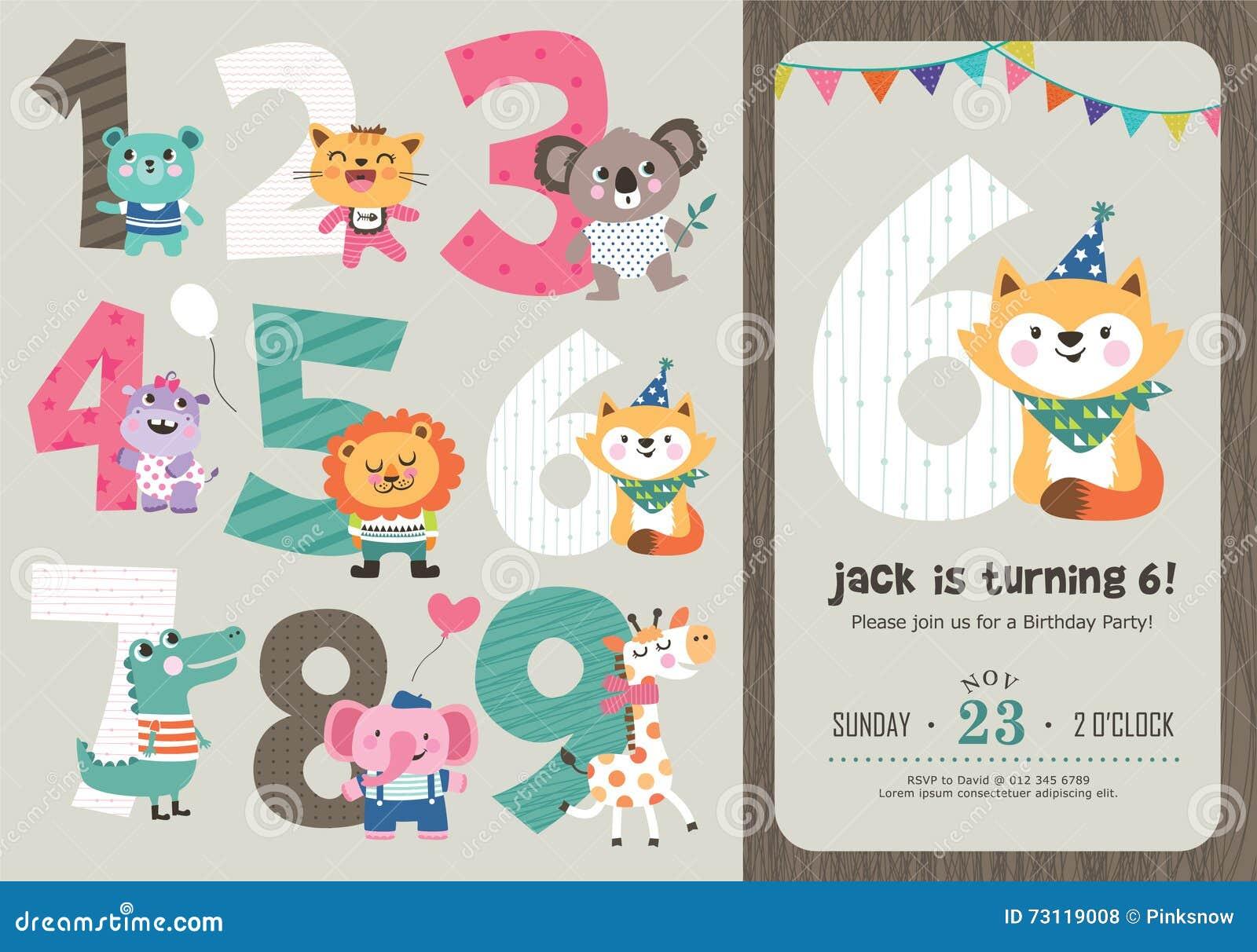 Birthday Card Stock Vector Illustration Of Kitten Birthday 73119008