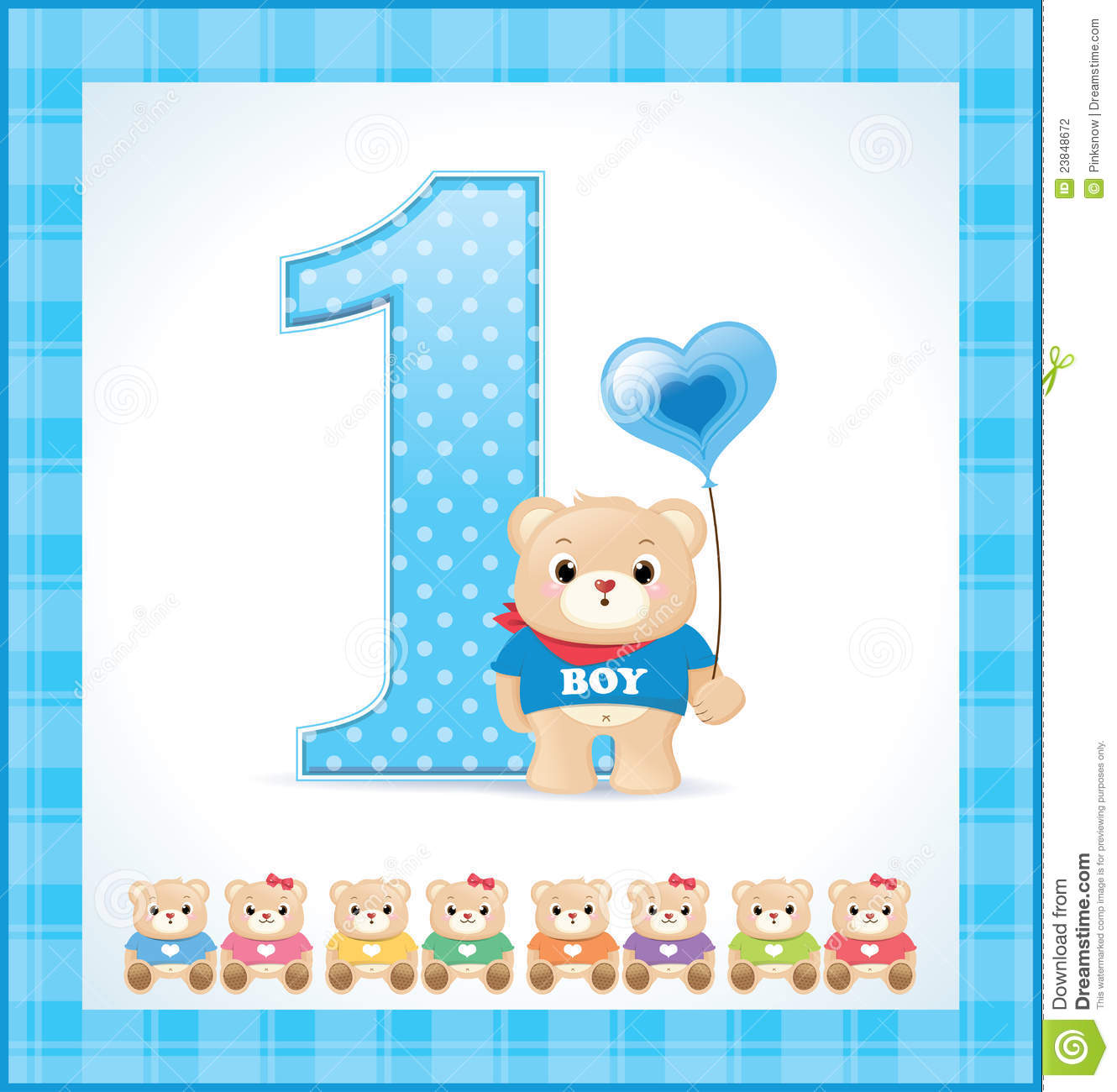 Birthday Card For Baby Boy Stock Photography  Image: 23848672
