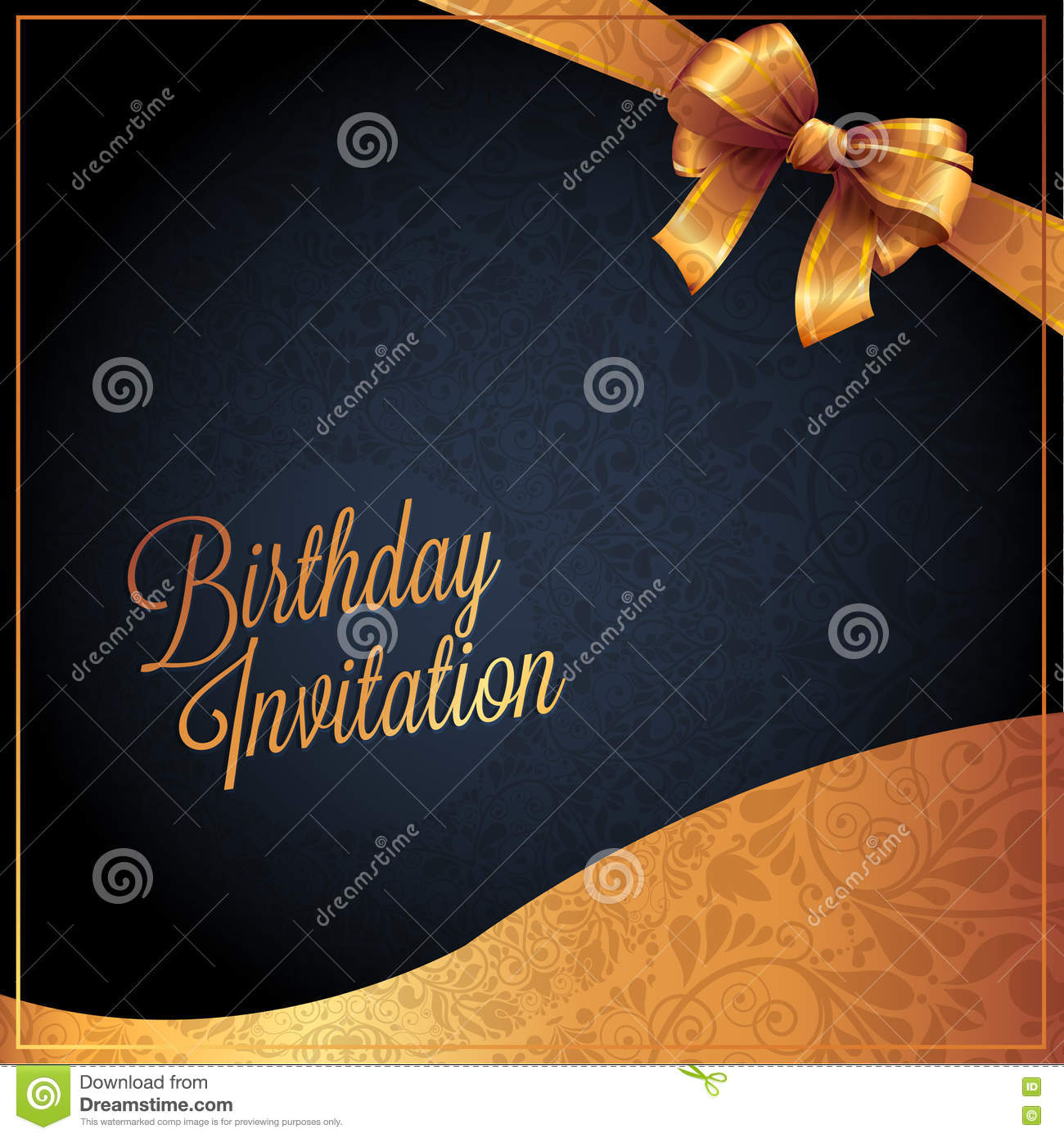 Birthday card with black background design stock vector birthday card with black background design bookmarktalkfo Images