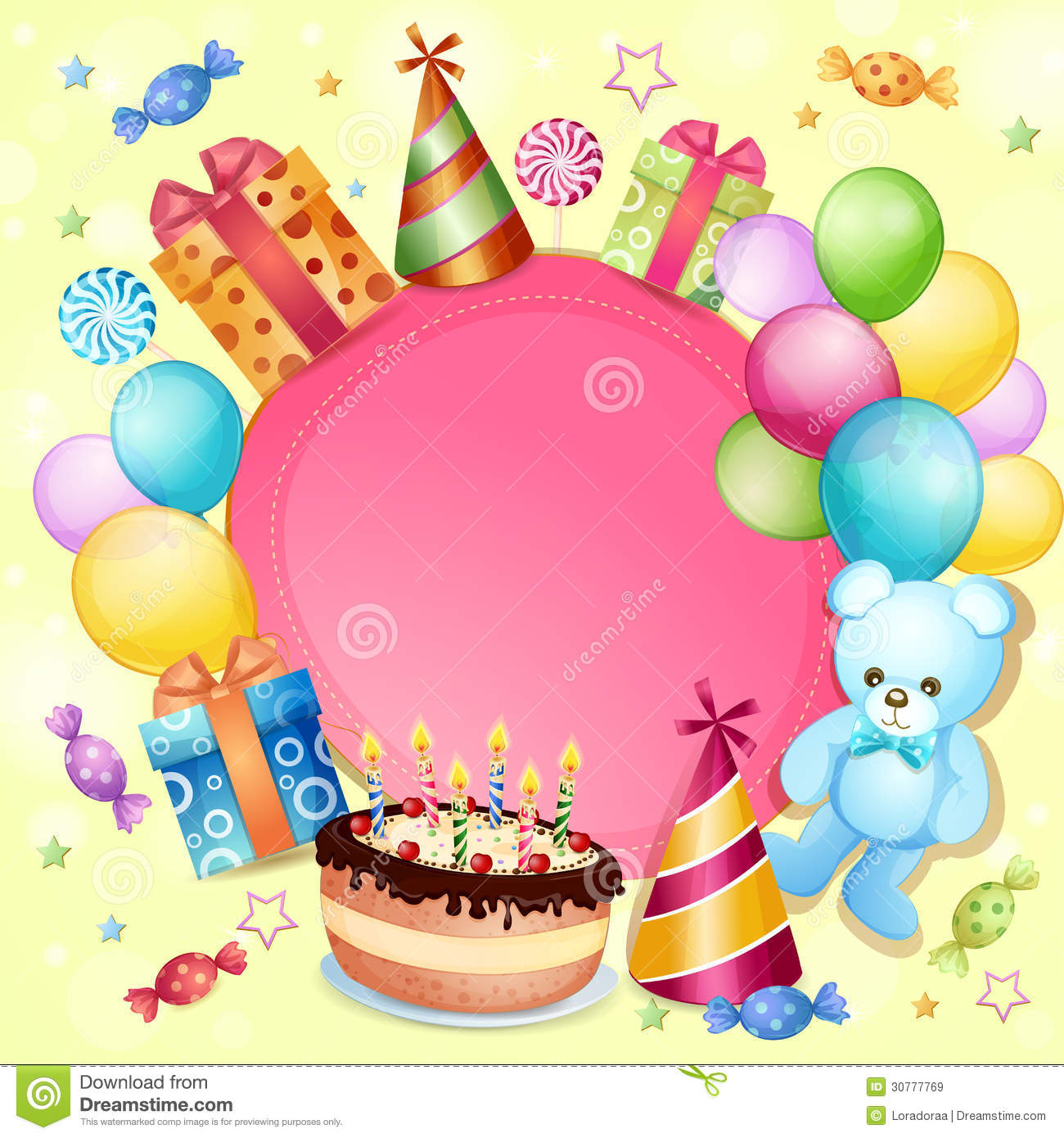 Birthday Card Royalty Free Stock Images - Image: 30777769