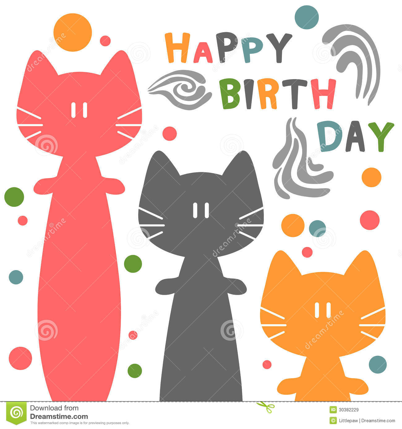 Birthday Card With Cats