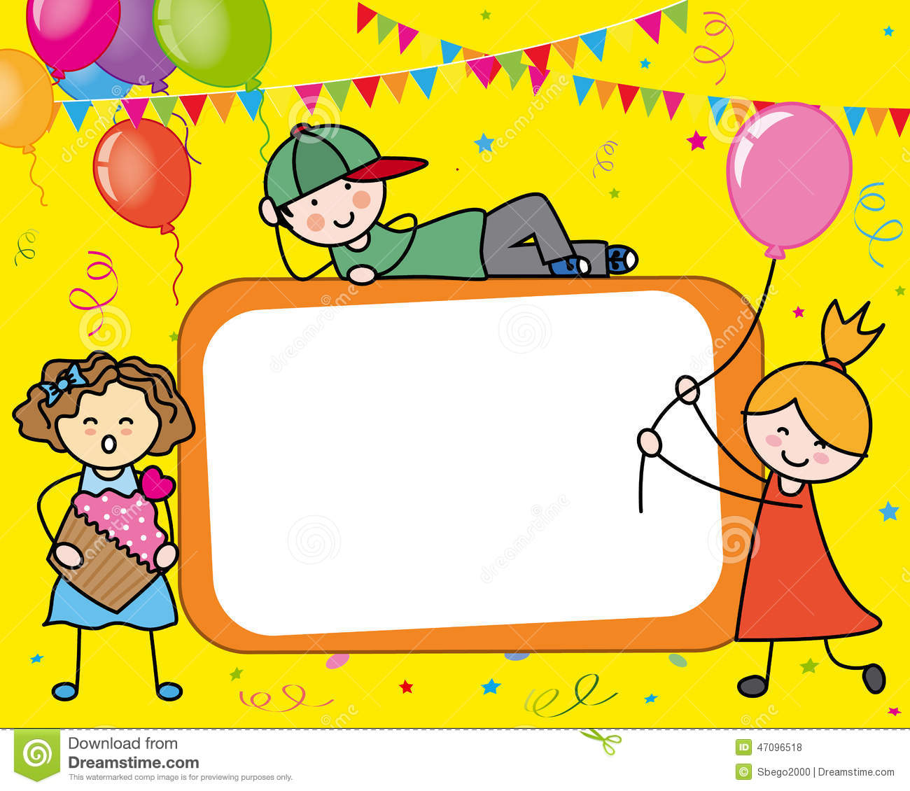 Birthday Card Vector Image 47096518 – Children Birthday Cards