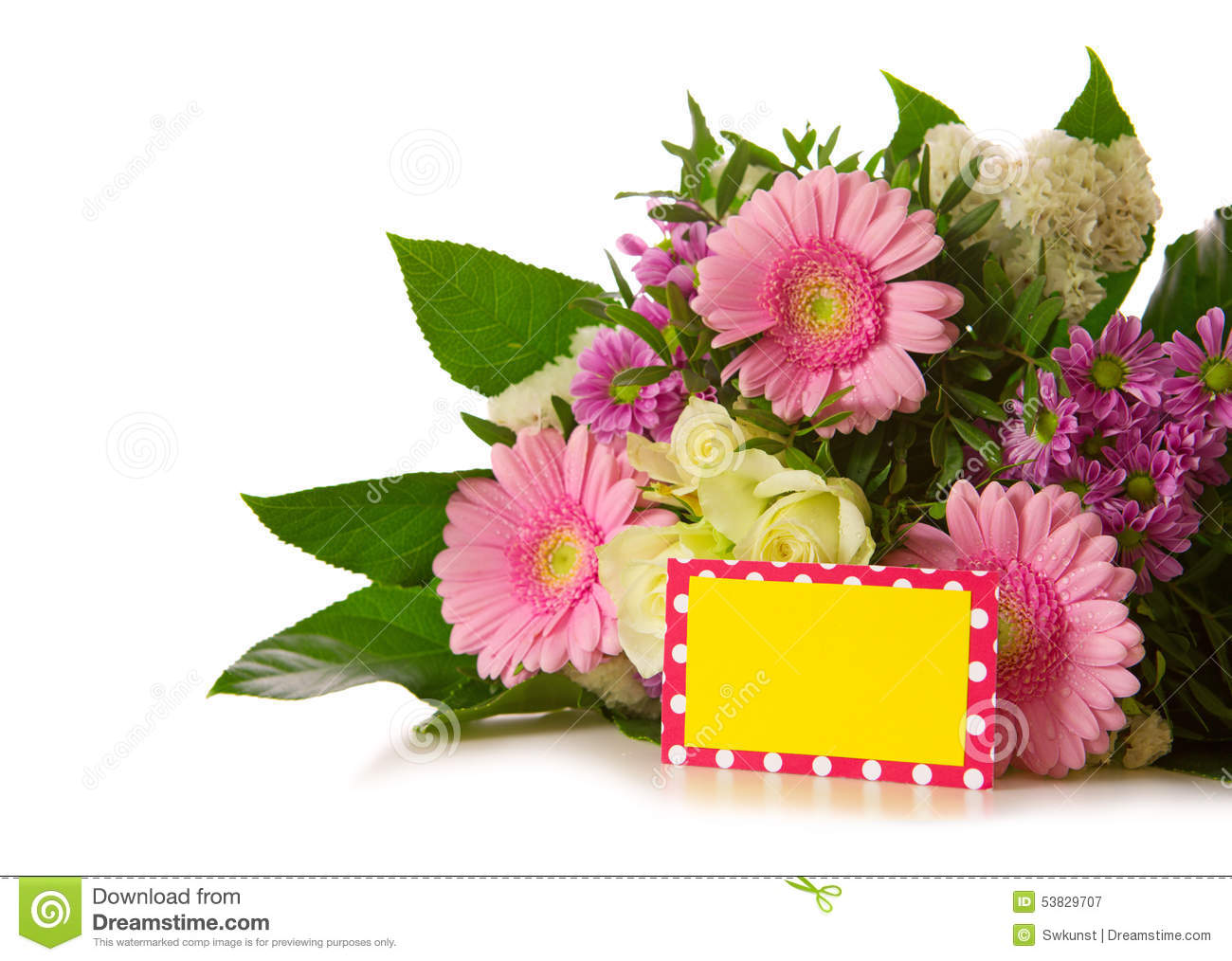 Birthday card stock image image of gerber flower floral 53829707 birthday card izmirmasajfo Images