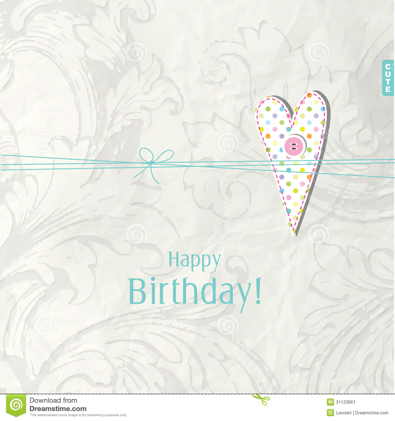 Birthday Card With Copy Space Stock Image Image 31123861