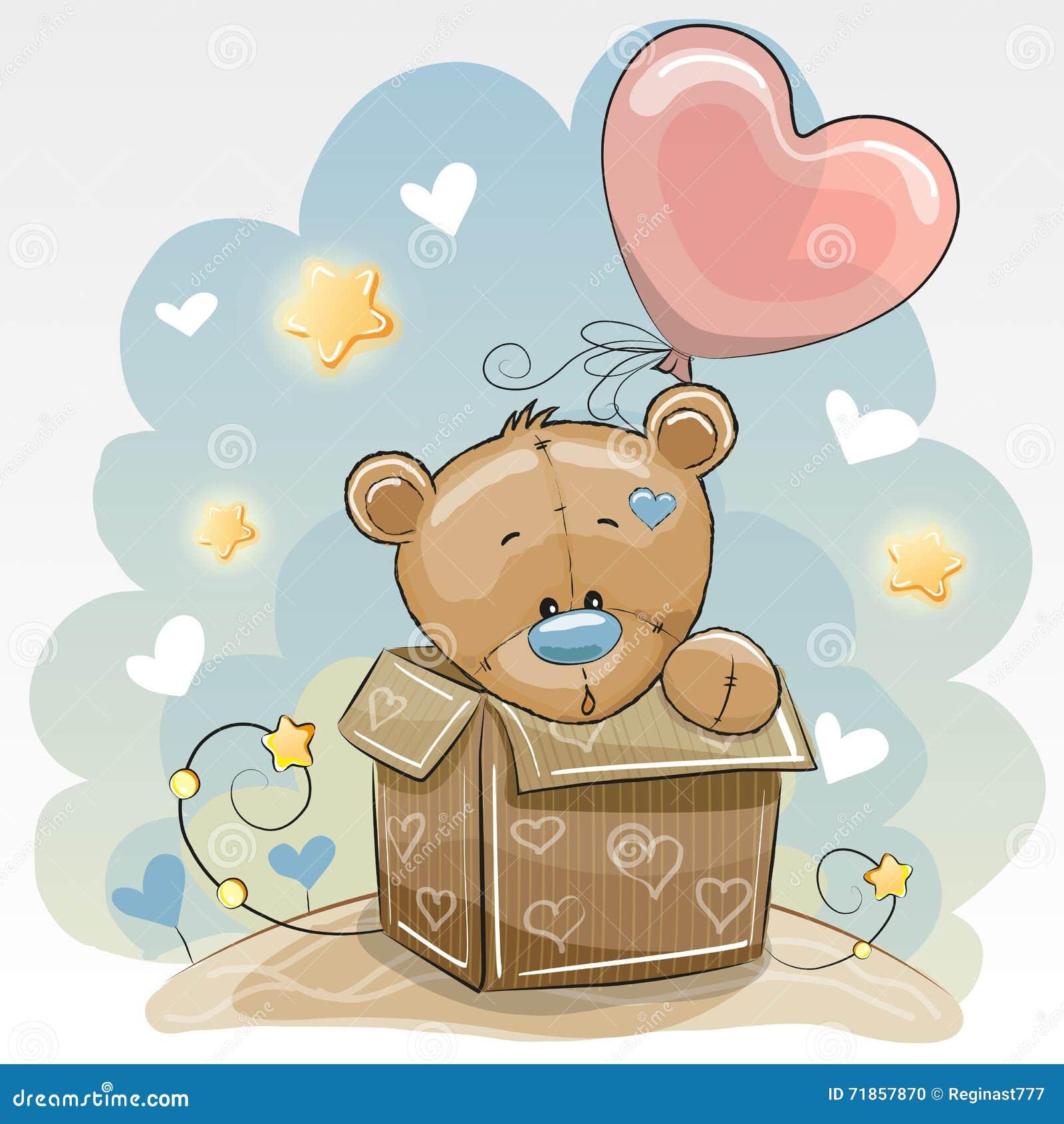 Birthday Card With Cute Bear Vector Image 71857870 – Birthday Card Bear