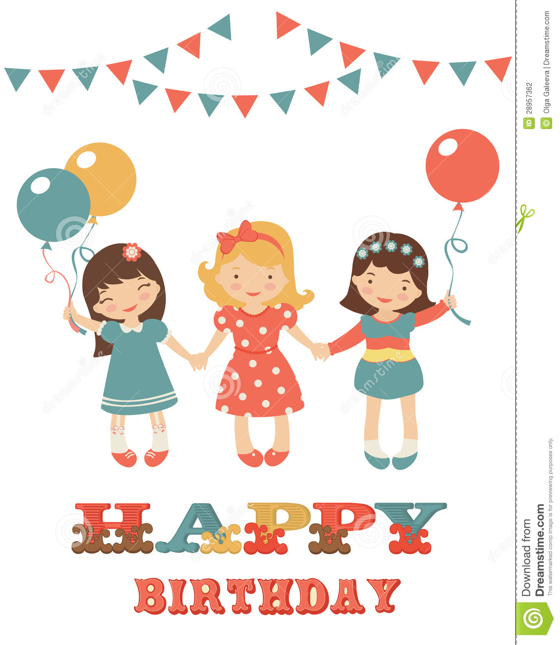 Birthday Card With Cute Little Girls Photography Image – Birthday Cards Girls