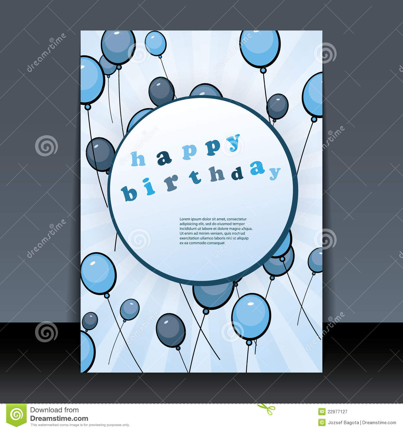 Birthday Card Flyer Or Cover Design Royalty Free – Photographer Birthday Card