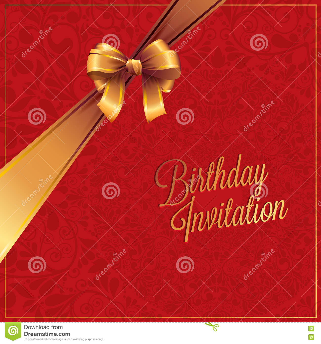 The Birthday Card And Greeting With Red Background Design Stock Vector Illustration Of Holiday Greeting 69550589