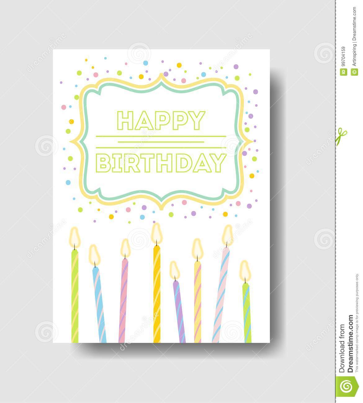 Birthday card stock vector illustration of gift anniversary birthday card greetings with cute decorations m4hsunfo