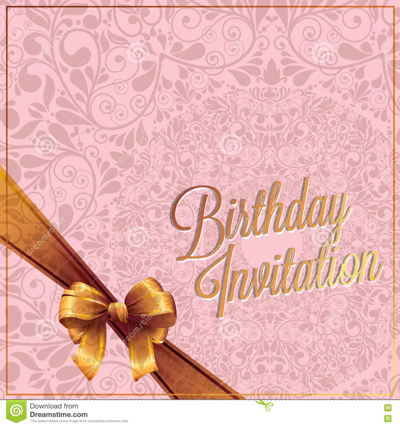 The birthday card and invitation card with pink color background the birthday card and invitation card with pink color background vector design stopboris Gallery