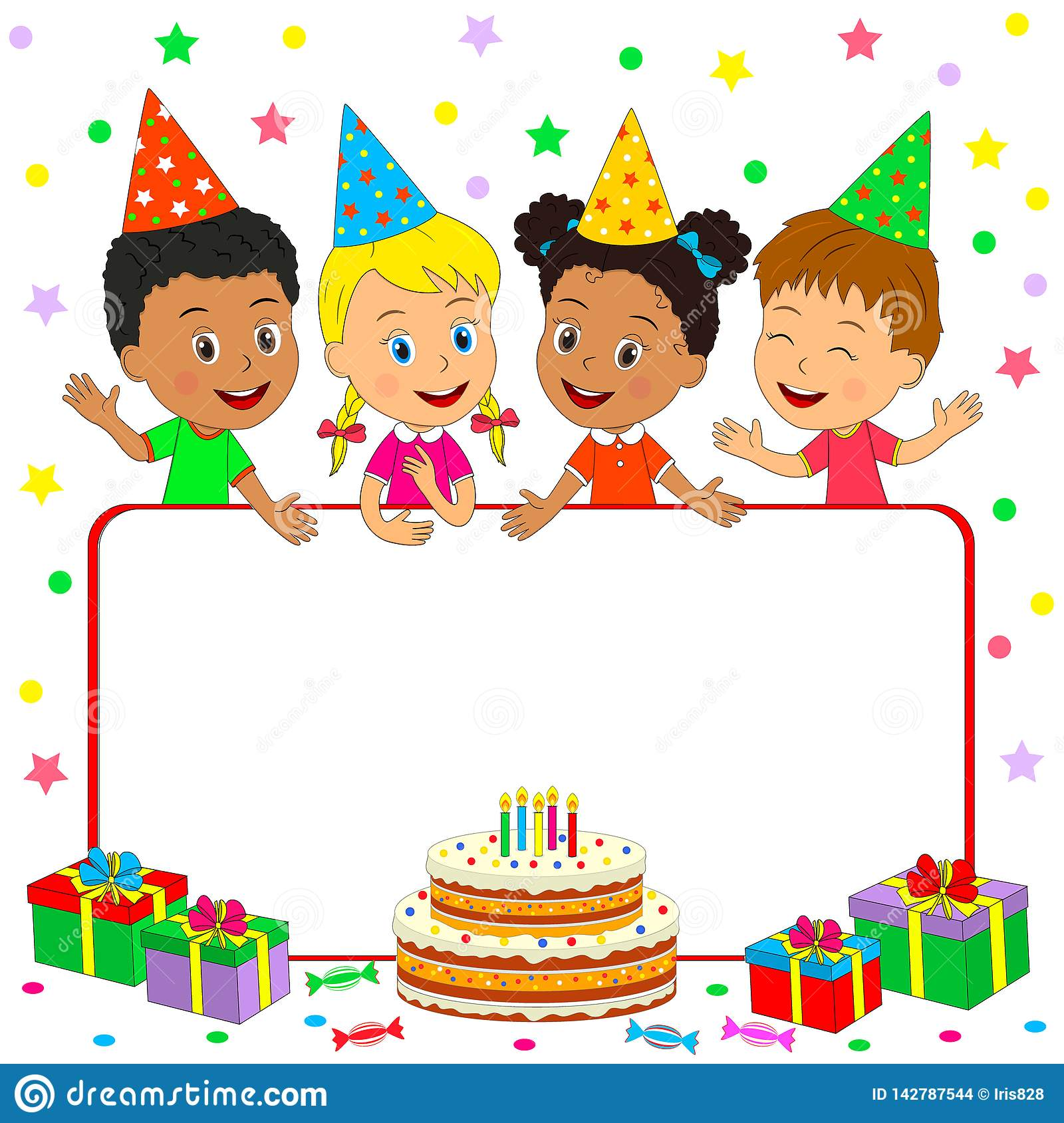Superb Birthday Card For Kids Stock Illustration Illustration Of Event Funny Birthday Cards Online Fluifree Goldxyz