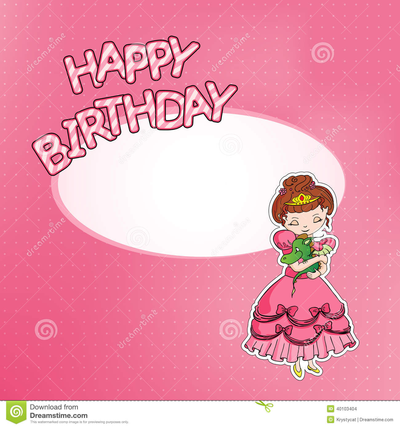 happy birthday princess greeting card stock photos, images, Birthday card