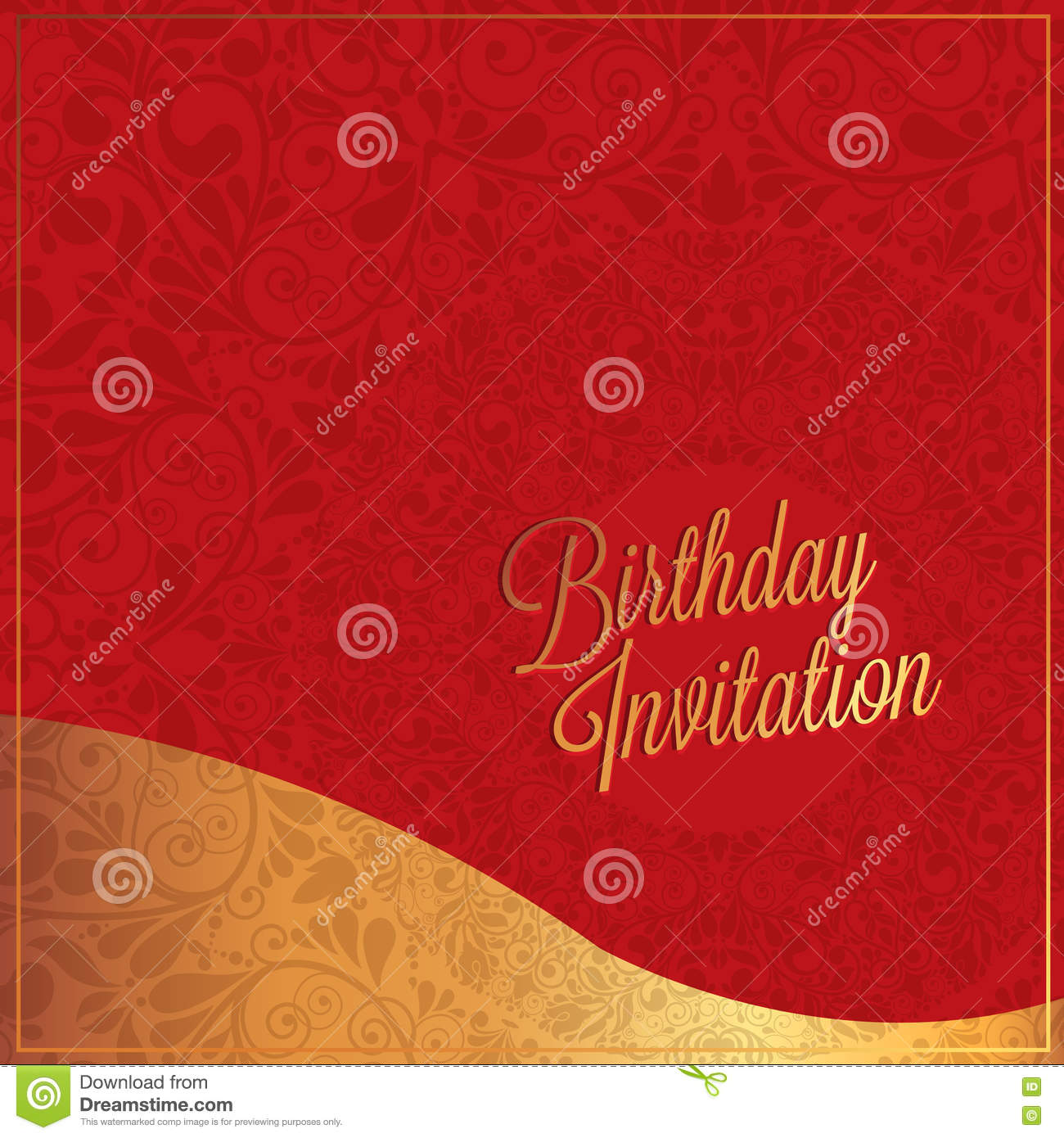 Birthday Card With Red Background Design Stock Vector Illustration Of Empty Helium 69864058