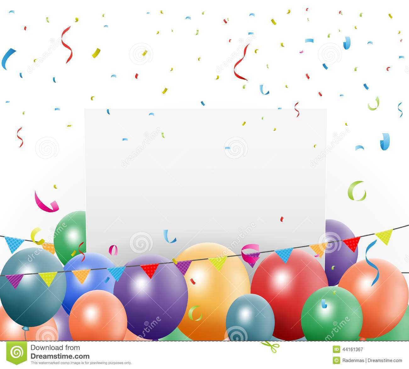 birthday celebration design with balloon and confetti clipart confetti falling clip art confetti borders