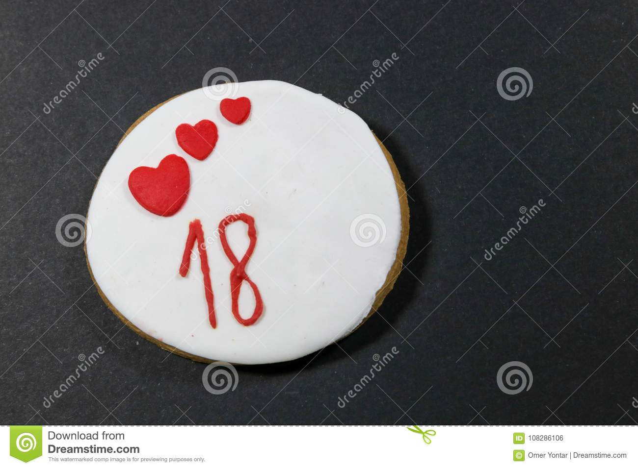 Birthday Cookies For 18 Years Old A Small Sweet Cake Typically Round Flat And Crisp