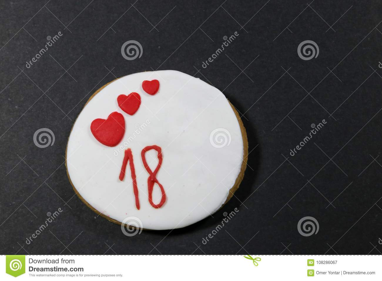 Birthday Cookies For 18 Years Old Stock Image Image Of Food Shape
