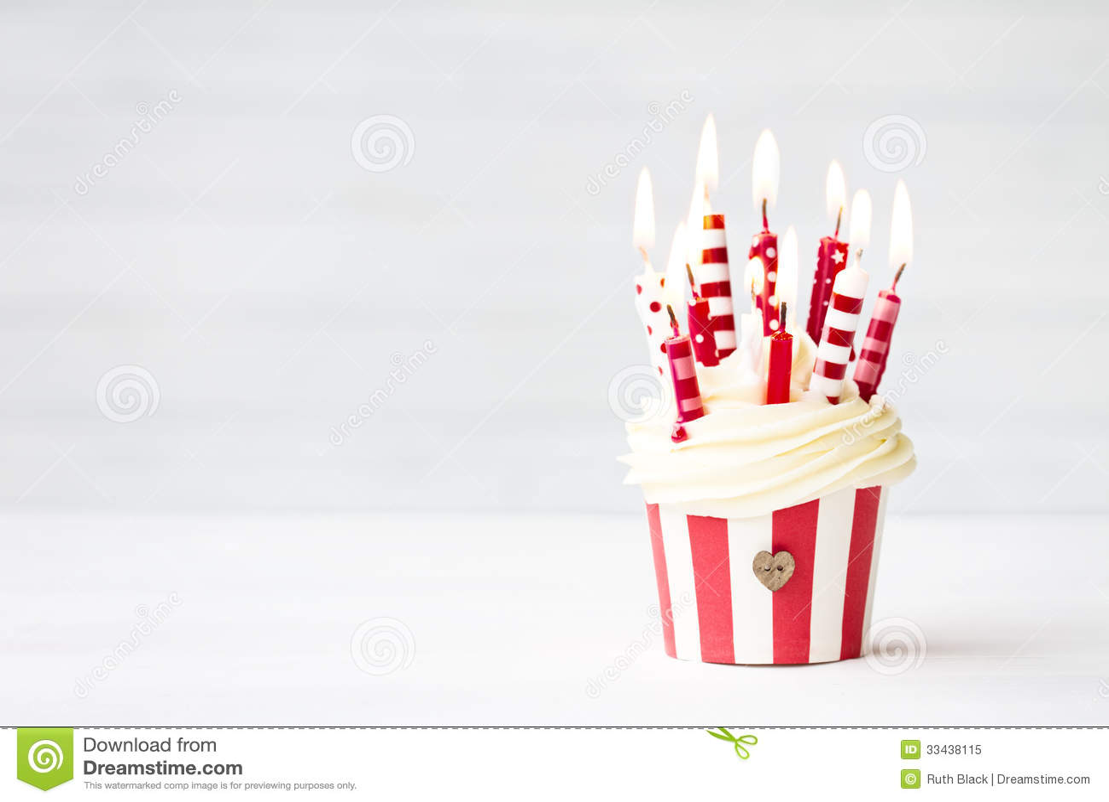 Birthday Cupcake Royalty Free Stock Photo Image 33438115