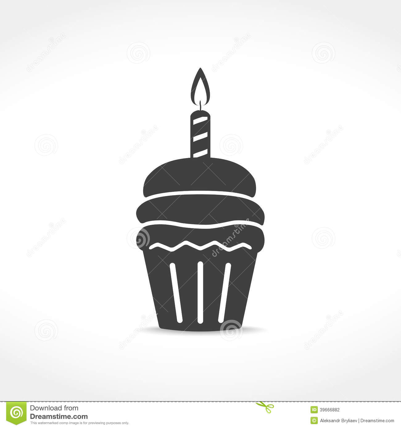 ... Illustration birthday cupcake icon stock vector - image: 39666882: pixshark.com/birthday-cupcake-illustration.htm
