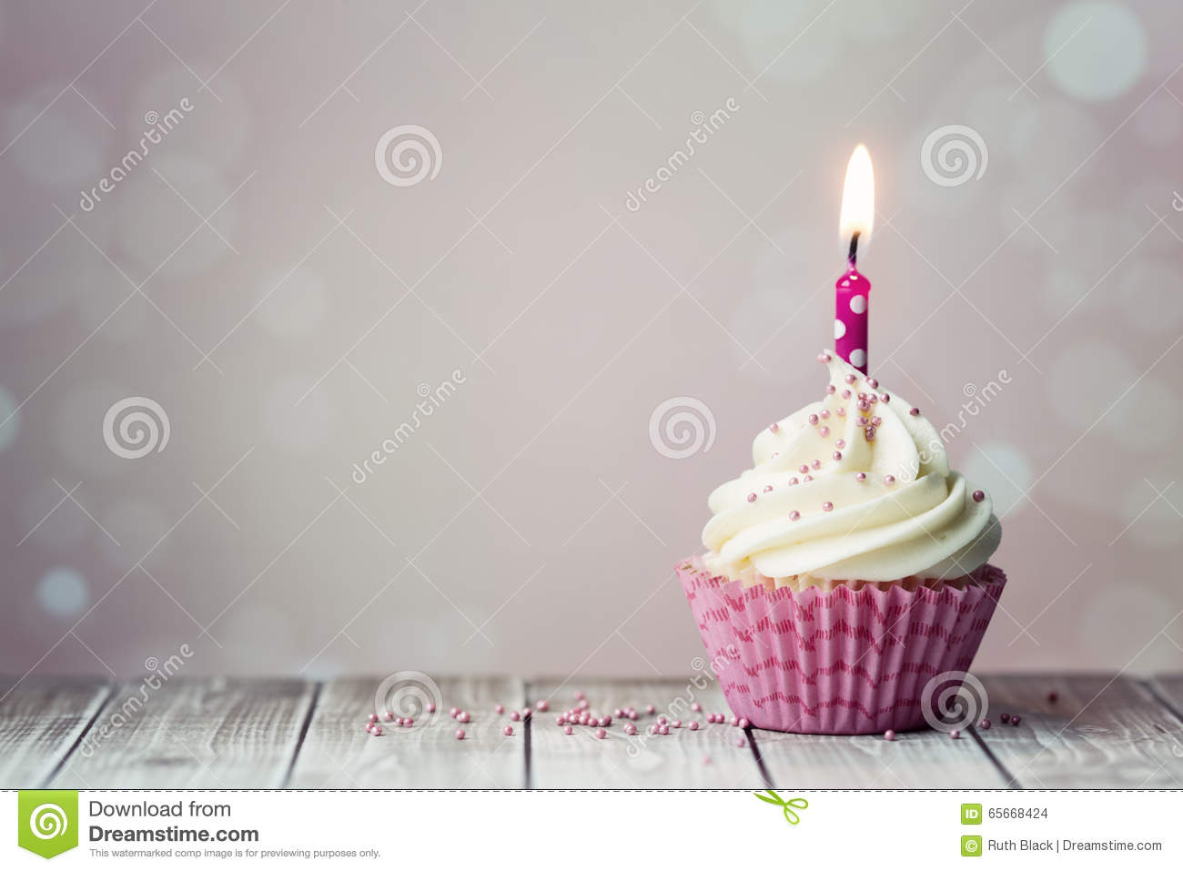 Birthday Cupcake Stock Photo Image Of Candles Cakes