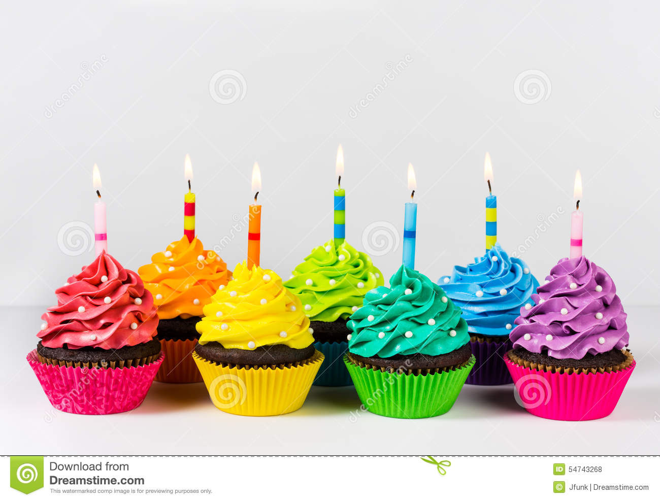 Birthday Cupcakes Stock Photo Image Of Dessert Many