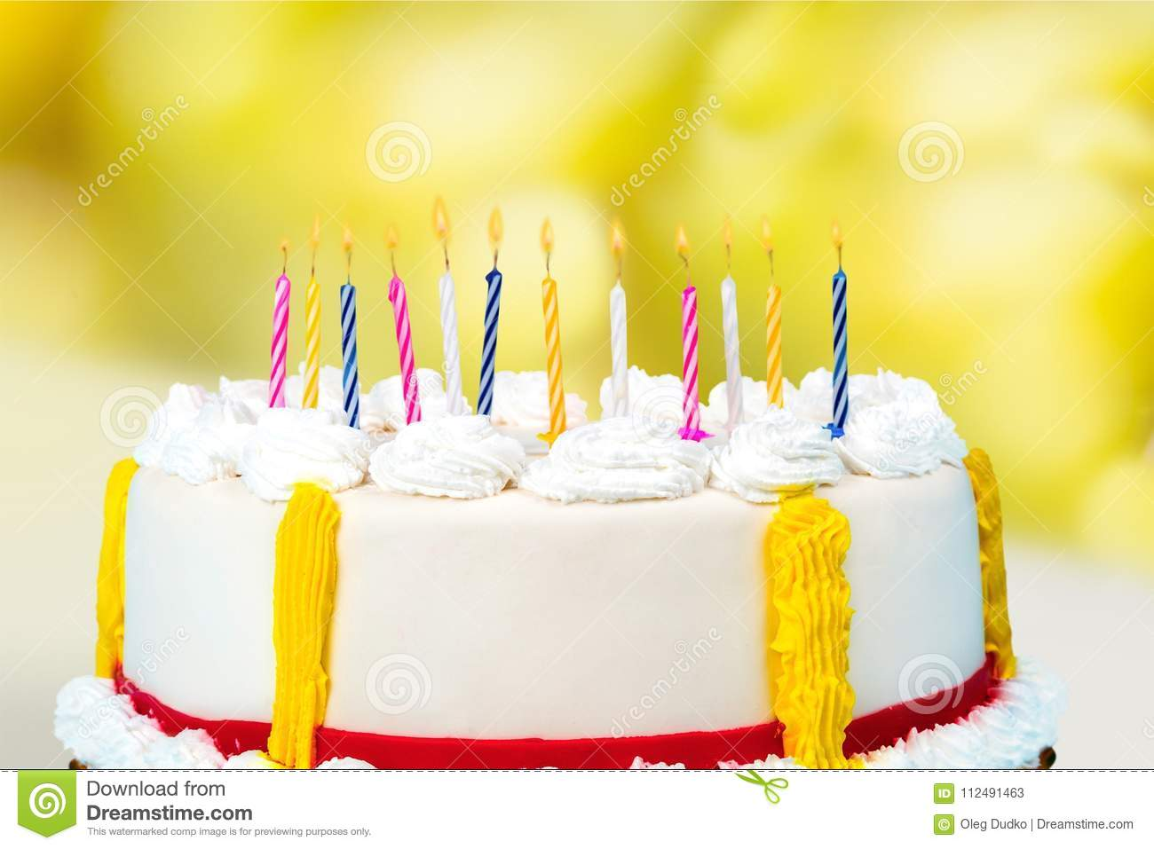 Birthday Day Cake Candles Table Color Fun