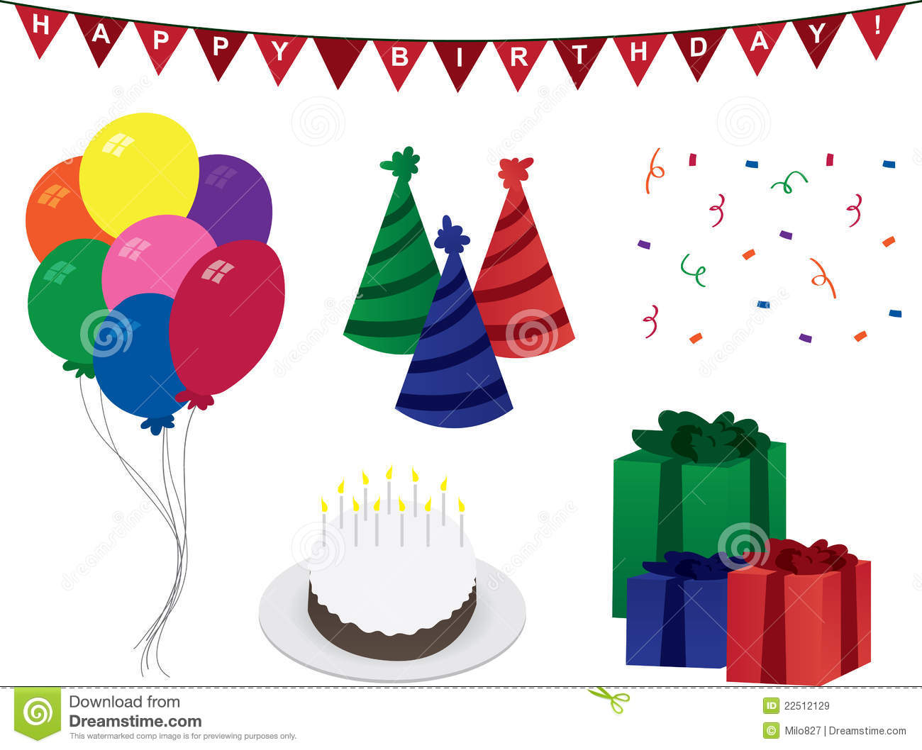 Birthday Decorations Stock Vector Illustration Of Exciting