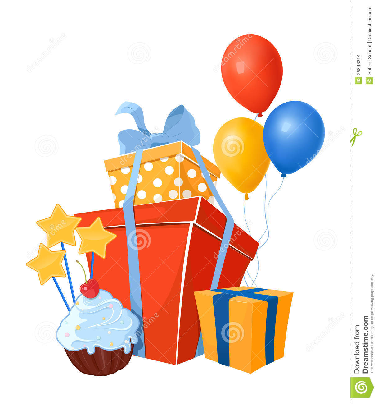 Birthday Design Elements Stock Images - Image: 26843214