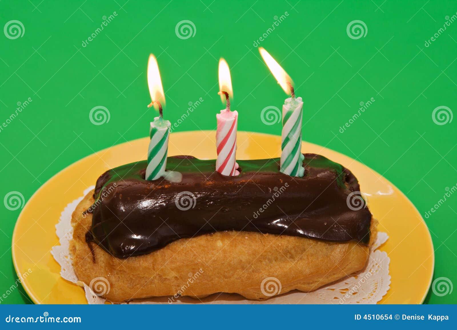 Eclair Birthday Cake
