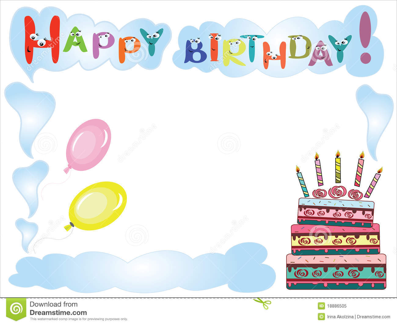 birthday frame stock vector illustration of colorful 18886505