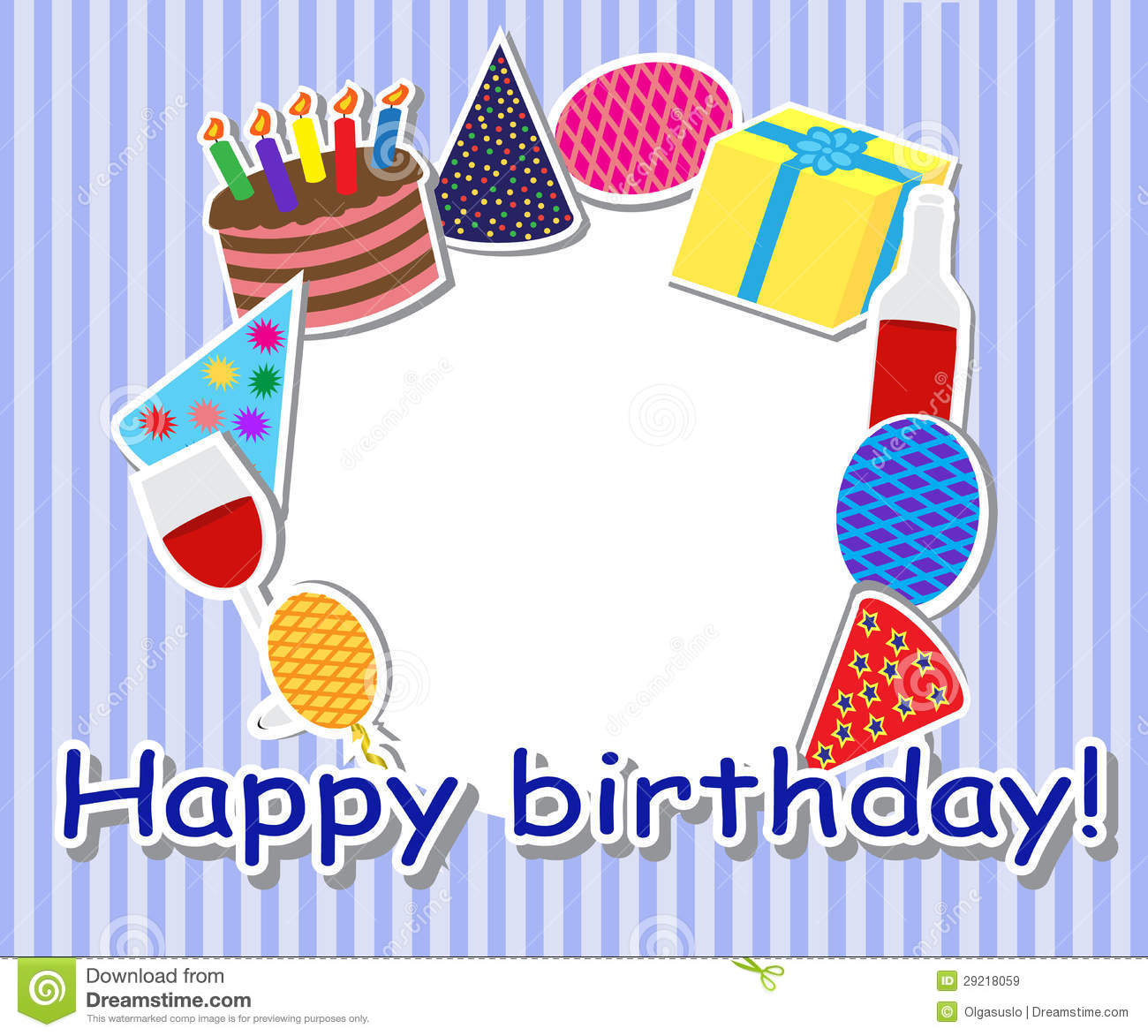 Birthday Frame Royalty Free Stock Images Image 29218059