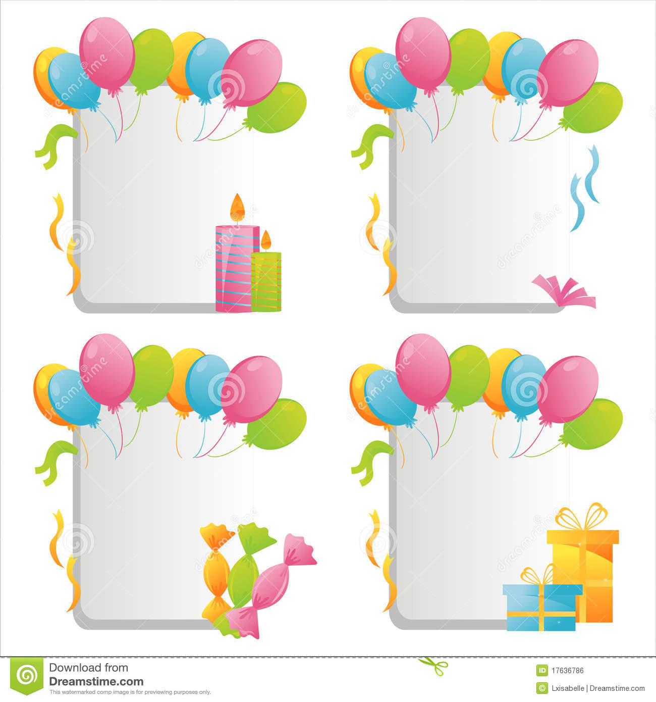 Birthday Frames Royalty Free Stock Image - Image: 17636786