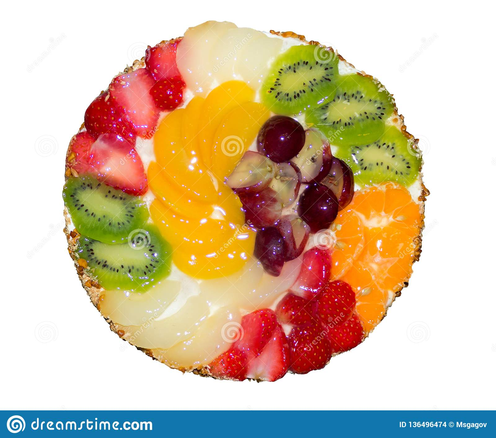 Strange Birthday Fruit Cake Stock Photo Image Of Birthday Kiwi 136496474 Funny Birthday Cards Online Fluifree Goldxyz
