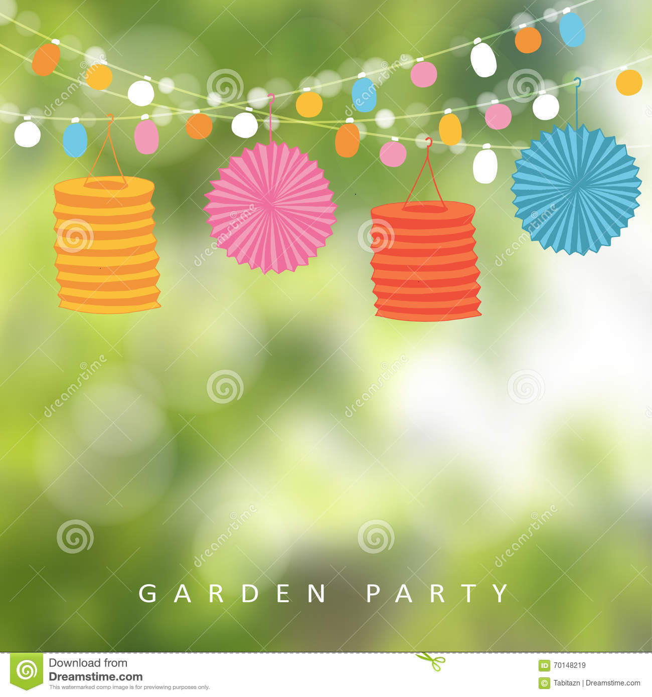 Outdoor Party Lights Clipart: Birthday Garden Party Or Brazilian June Party