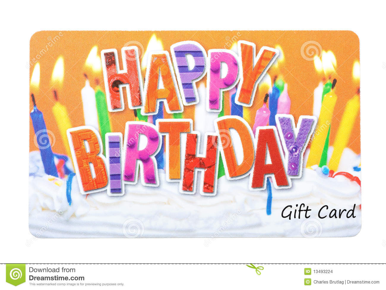 Birthday Gift Card Stock Photo. Image Of White, Present