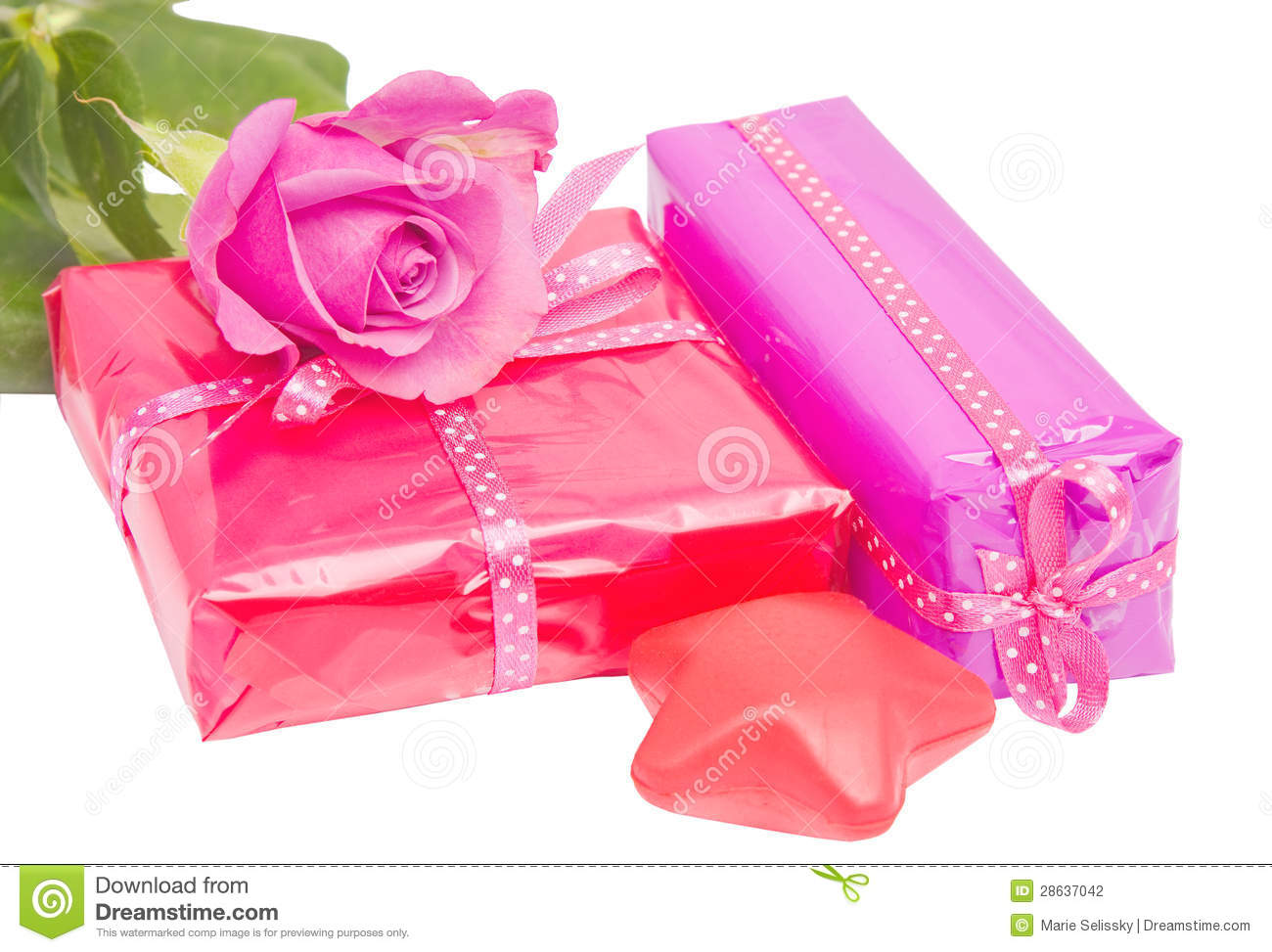 Birthday gifts isolated stock photo image of decorative 28637042 birthday gifts isolated negle Images
