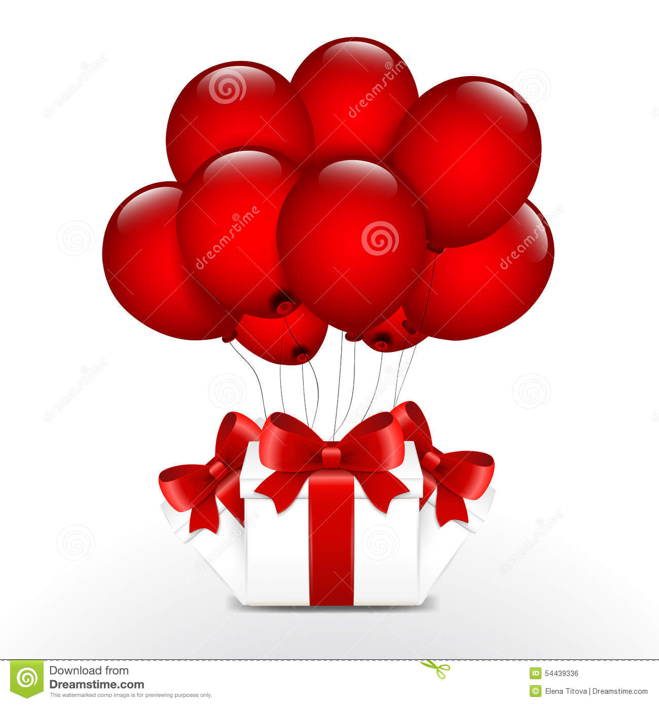 Birthday Gifts With Red Balloons