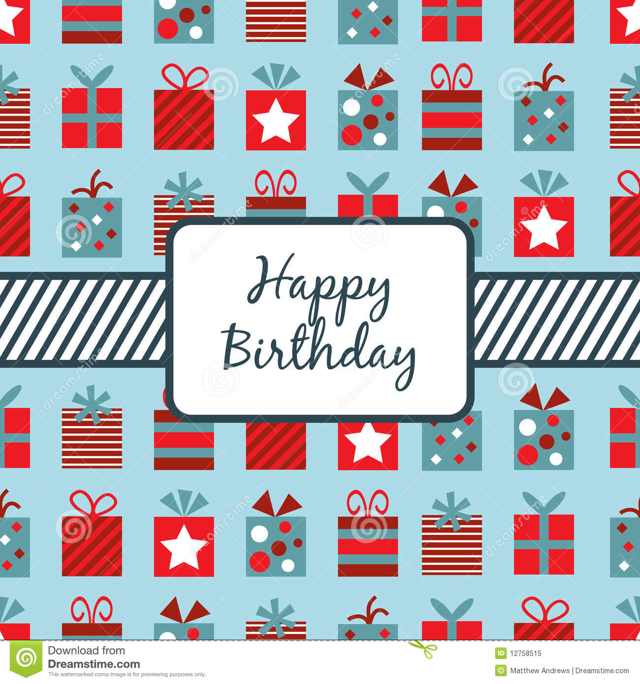 Birthday Gifts Wrapping Stock Vector Illustration Of Shape 12758515