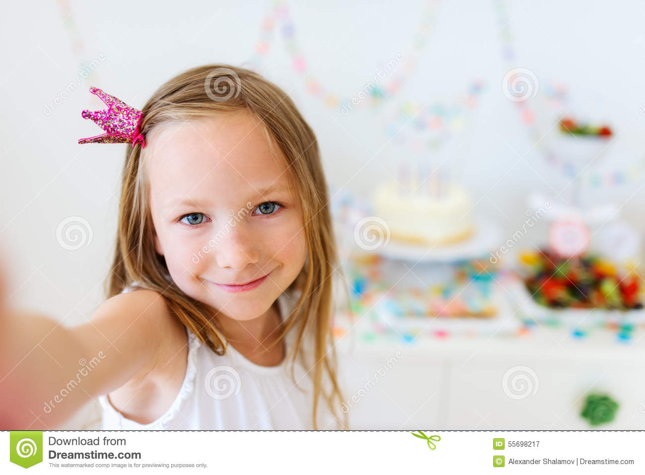 Birthday girl at party stock photo image 55698217 for Small princess