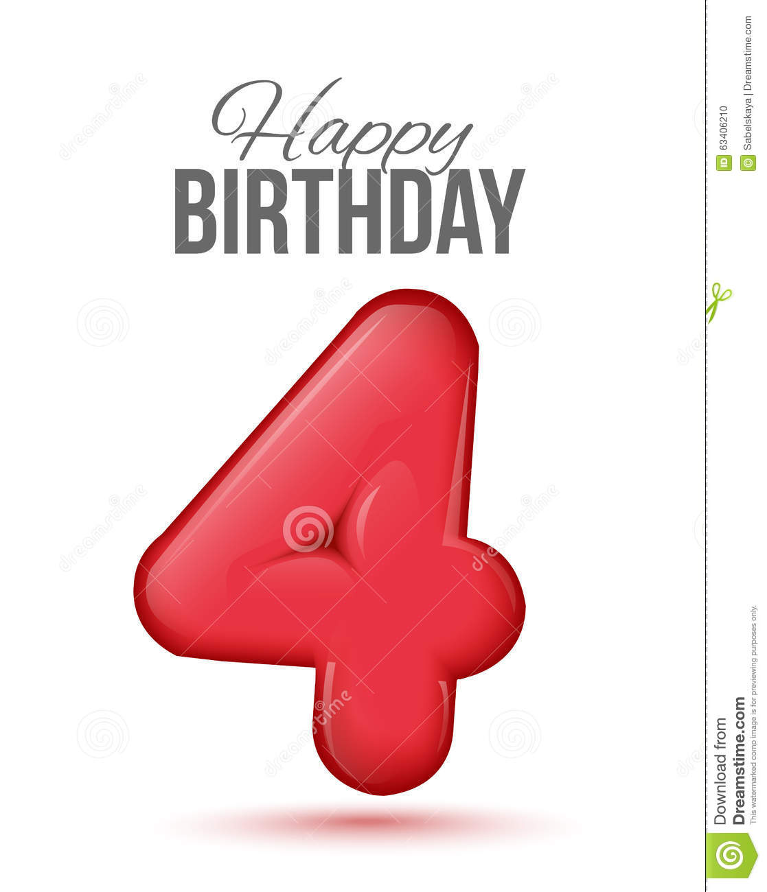Birthday Greeting Card With Numbers Stock Vector Illustration Of