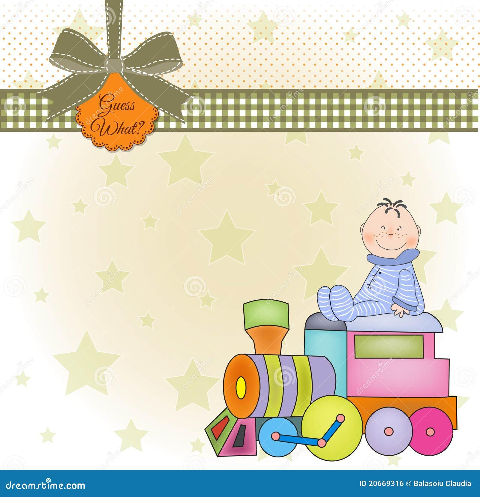 Birthday Greeting Card With Train