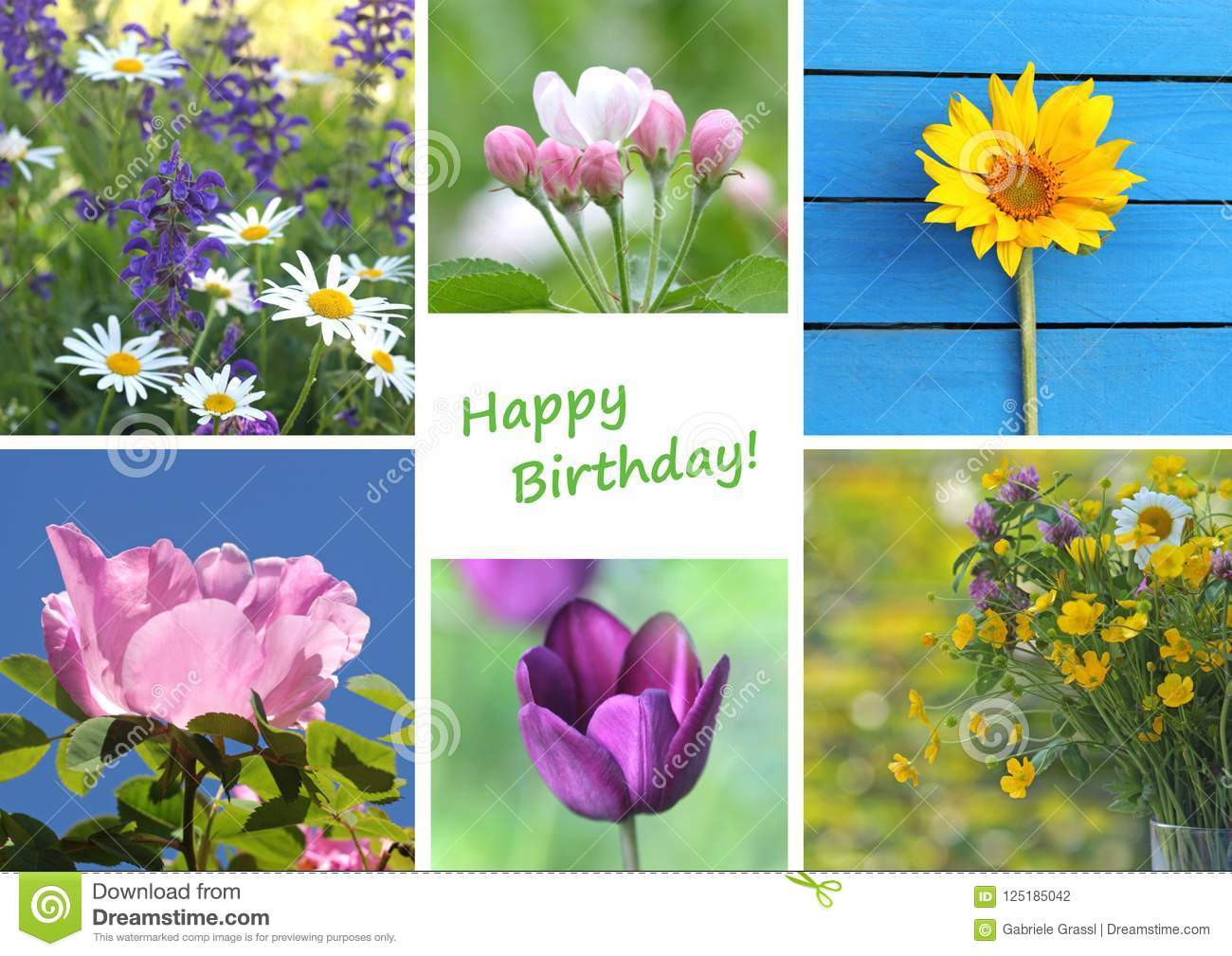 Birthday greeting card with a variety of flowers stock photo image download birthday greeting card with a variety of flowers stock photo image of card izmirmasajfo