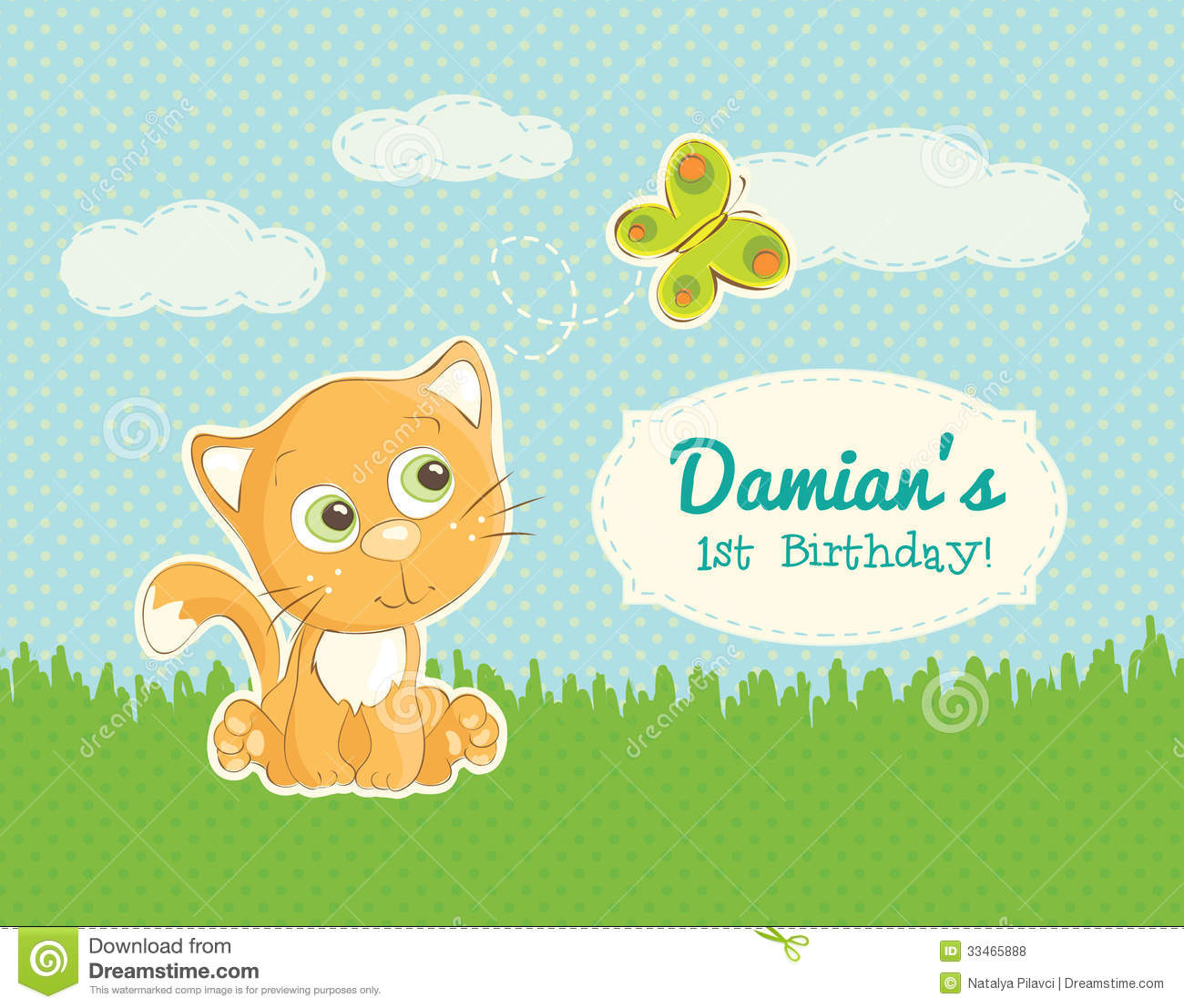 Birthday Greeting For A Child Stock Vector Illustration Of Book