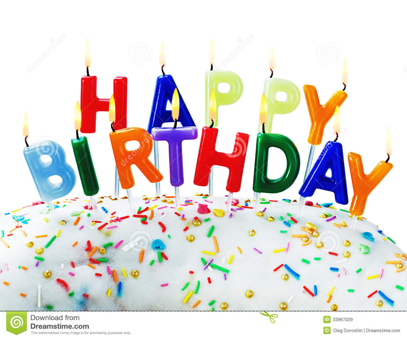 Birthday Greetings From Burning Candles Royalty Free Images – Images Birthday Greetings