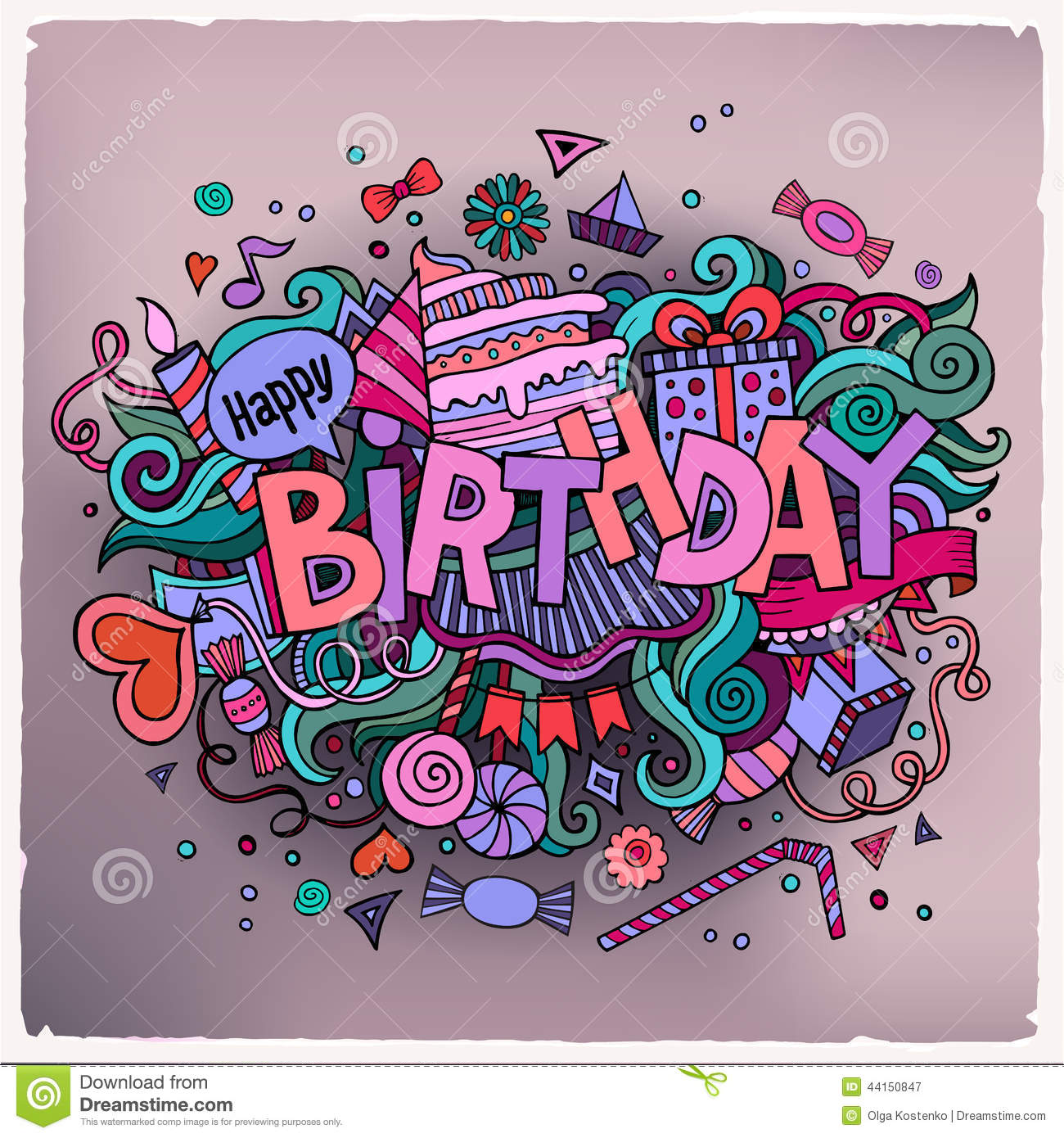 Stock vector music hand lettering and doodles elements - Birthday Hand Lettering And Doodles Elements Royalty Free Stock Photography