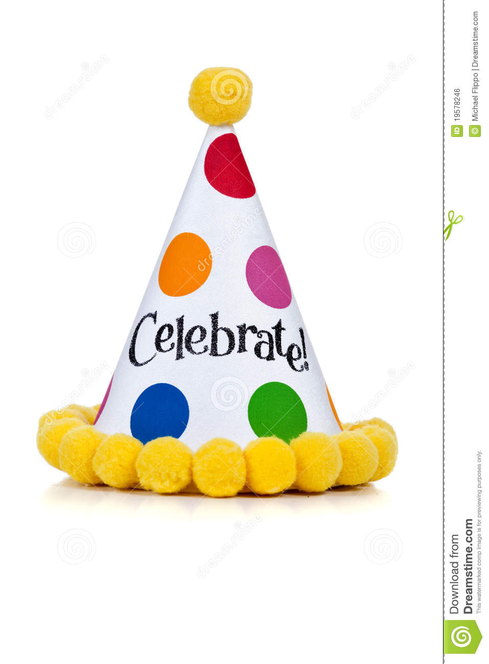 Birthday Hat On A White Background Royalty Free Stock